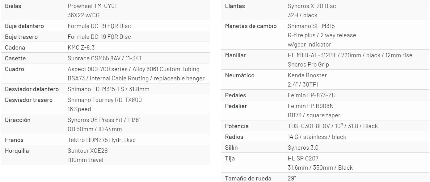 scott aspect 960 especificaciones